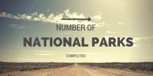 Number of National Parks Completed, National Parks Guy